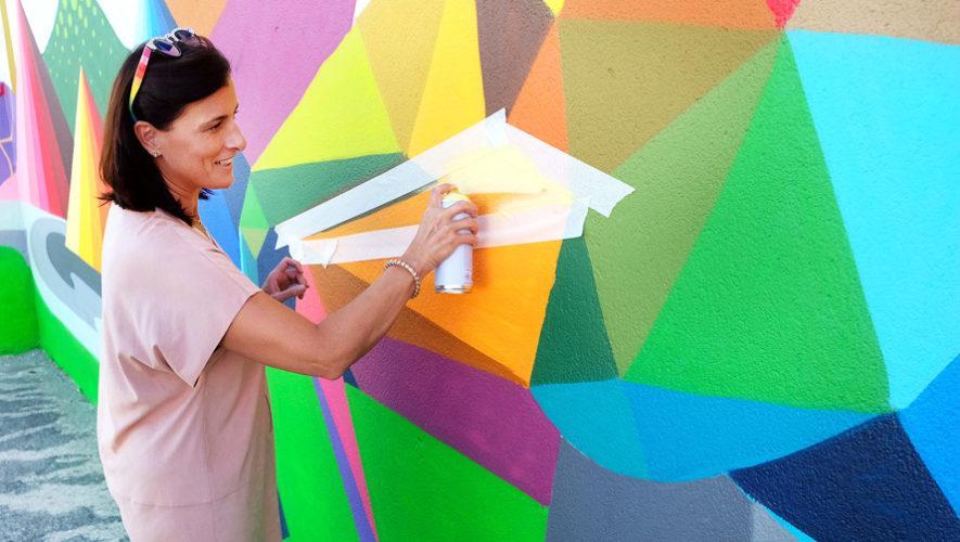 Voluntariado para ayudar a pintar Plaza Berlín, Guatemala | Noviembre 2018