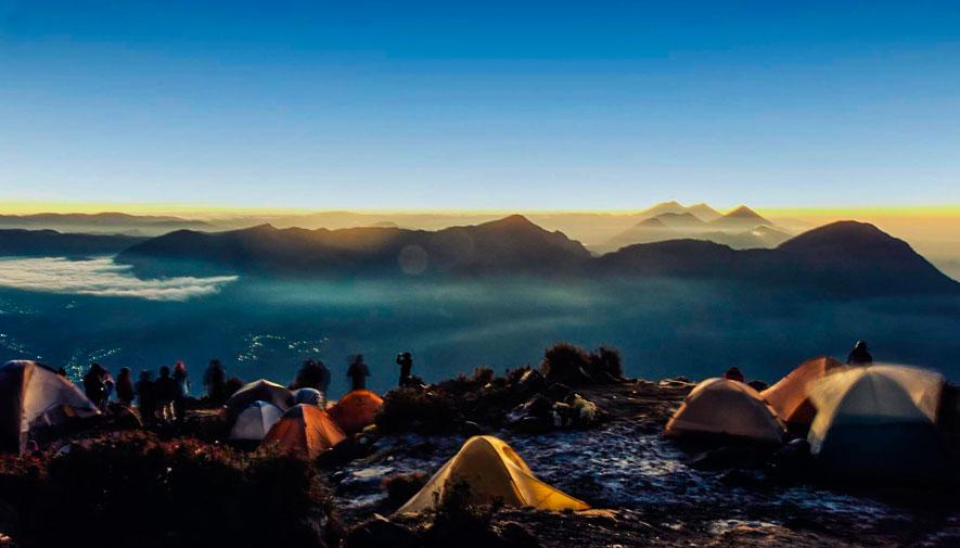 Ascenso en el volcán Santa María