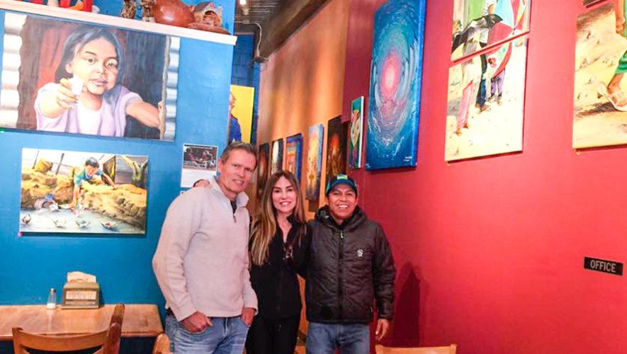 Benedicto Ixtamer exhibe obras de arte en restaurante en Estados Unidos