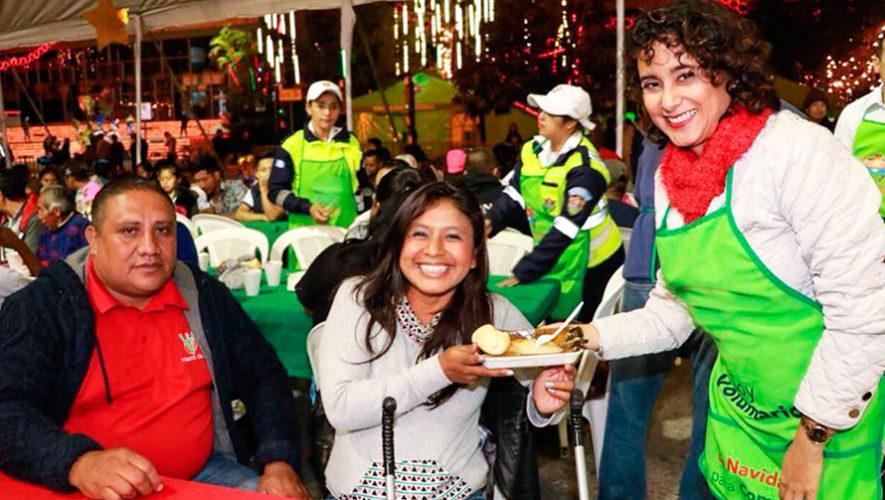 Convocatoria de voluntarios para entregar cenas navideñas en la Ciudad de Guatemala, 2018