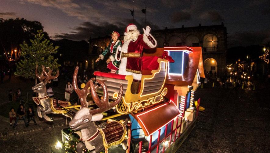 Desfile navideño en Antigua Guatemala   Diciembre 2018