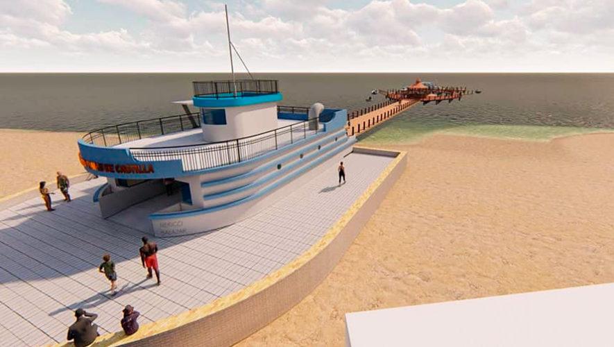 El muelle que será construido en la playa de Santo Tomás de Castilla, Puerto Barrios