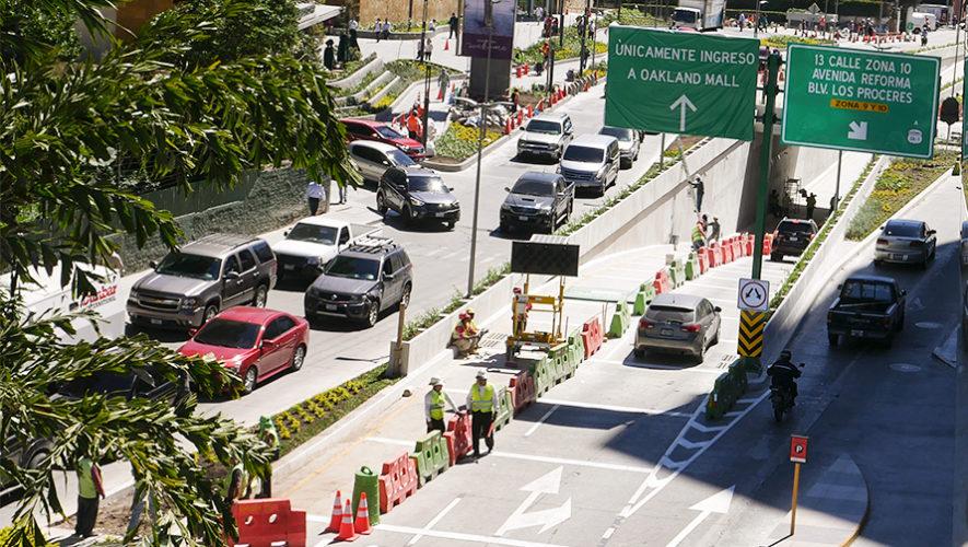 Fecha de la inauguración del paso a desnivel de la Diagonal 6 zona 10, Ciudad de Guatemala