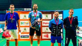 Kevin Cordón ganó el oro en el XII Suriname International 2018