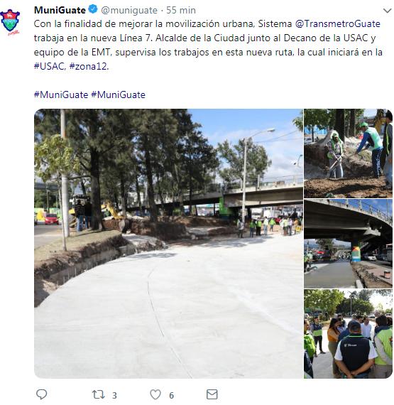 Las paradas del Transmetro Anillo Periférico en la Ciudad de Guatemala