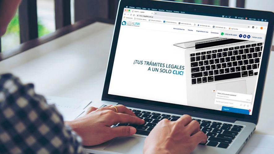 LegaLink, plataforma virtual para realizar trámites legales en Guatemala
