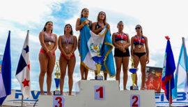 Natalia Girón y Estefanie Bethancourt, campeonas del Centroamericano Mayor de Playa 2018