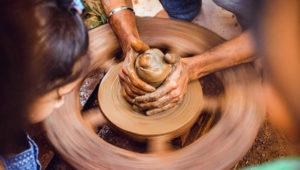 Taller de artesanías con barro en Antigua Guatemala   Noviembre 2018