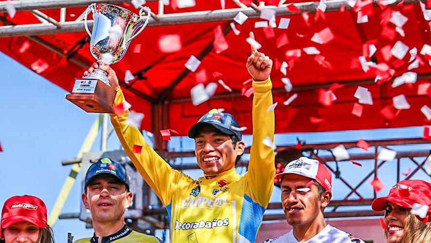 Alfredo Ajpacajá, campeón de la 58 Vuelta Ciclística a Guatemala 2018