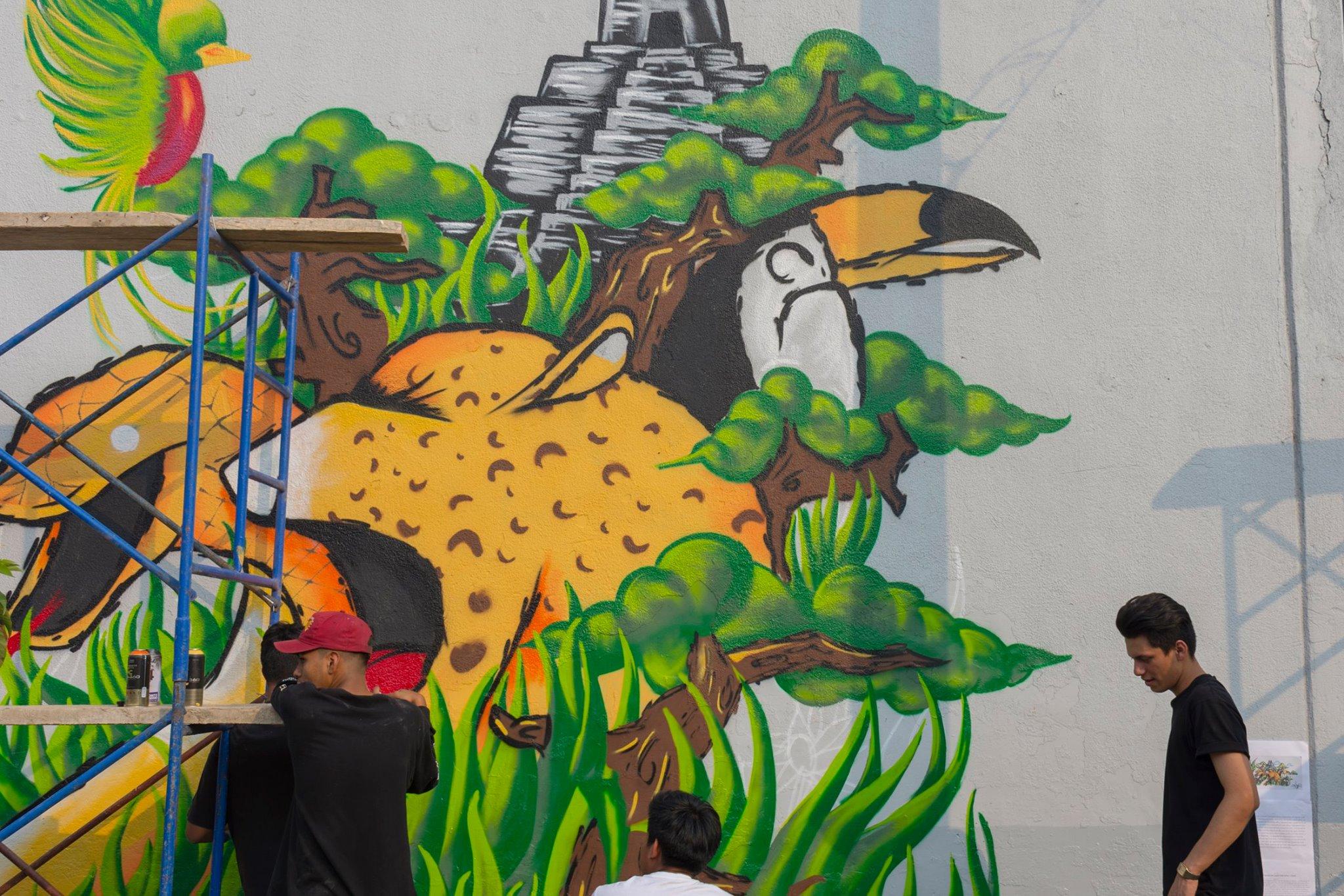 maratón de dibujo y pintura en la Ciudad de Guatemala