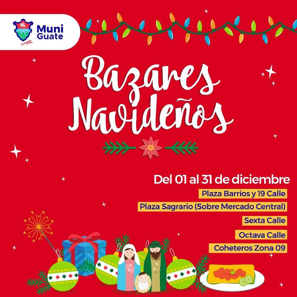 Bazares Navideños en la Ciudad de Guatemala, diciembre 2018