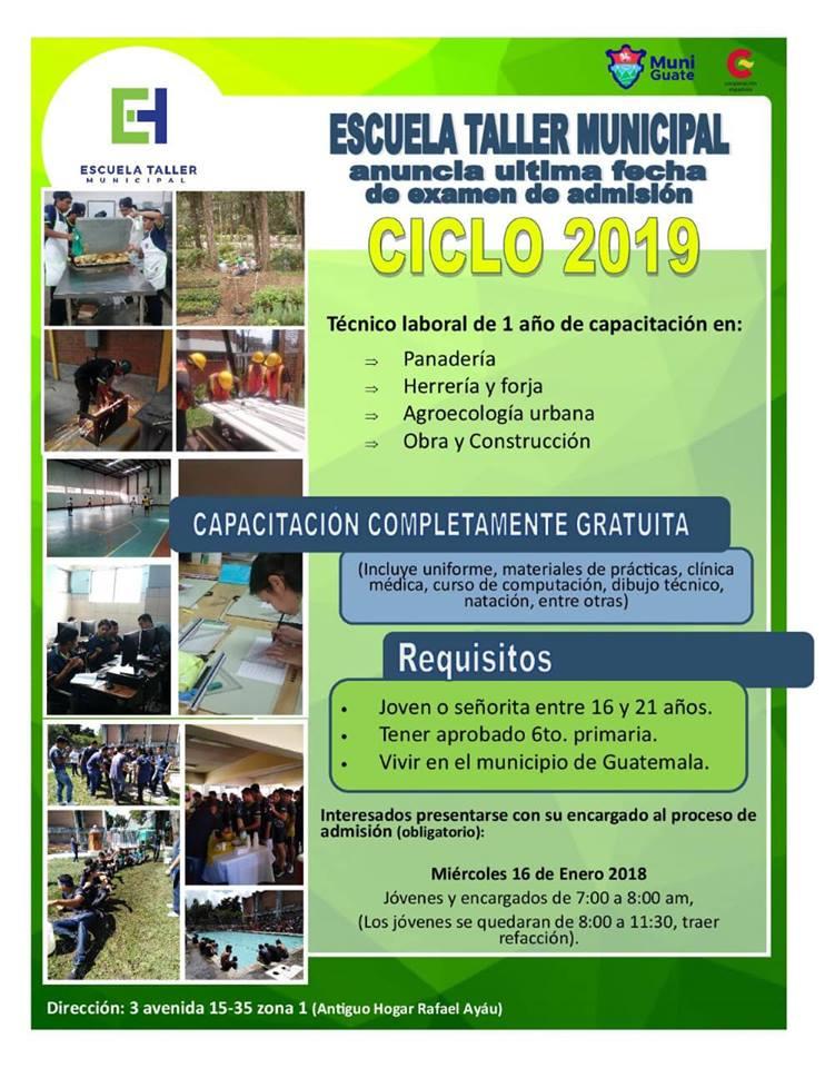 Cursos técnicos gratuitos en la Escuela Taller Municipal para el 2019
