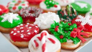 Decoración gratuita de donas navideñas | Diciembre 2018