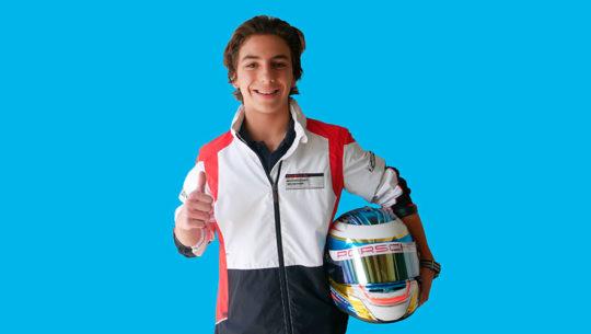 Mateo Llarena, el piloto guatemalteco que estará a prueba con Porsche