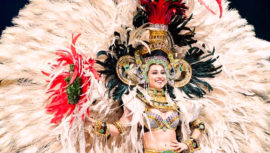 Miss Universo Miss Guatemala en traje tradicional