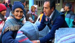 Recolección y entrega de frazadas a personas de escasos recursos | Diciembre 2018
