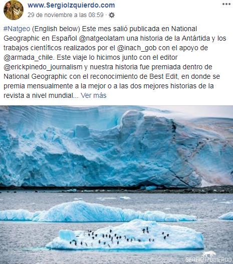 Sergio Izquierdo fue premiada por National Geographic en Español