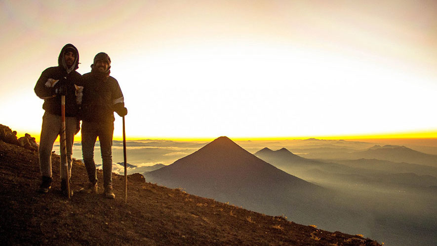 Ascenso nocturno al volcán Acatenango   Febrero 2018