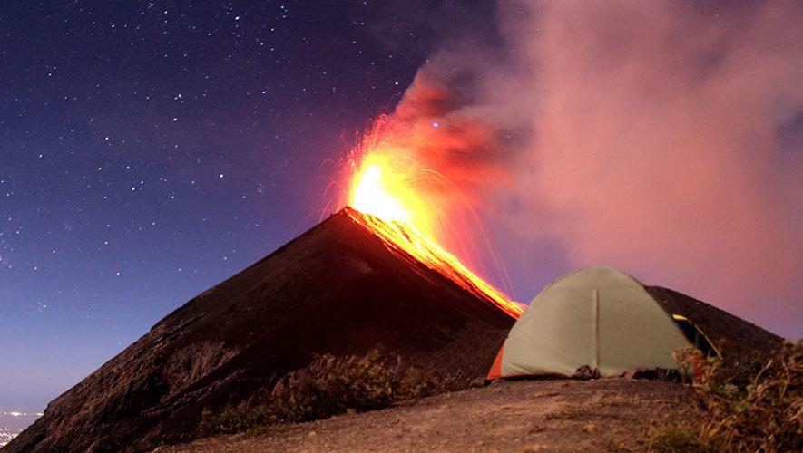 Campamento en el Volcán de Fuego | Febrero 2018