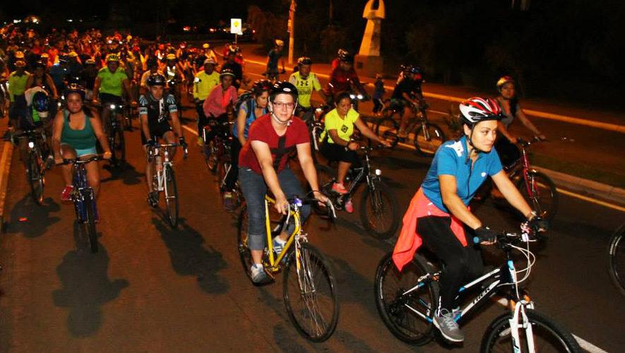 Colazo nocturno en bicicleta Lobezno en Ciudad de Guatemala   Enero 2018