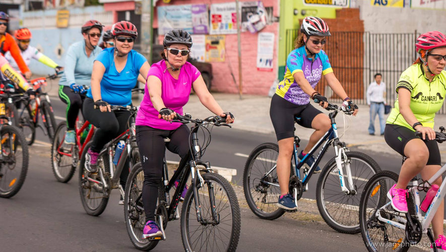 Tour en bicicleta para mujeres en la Ciudad de Guatemala   Enero 2018