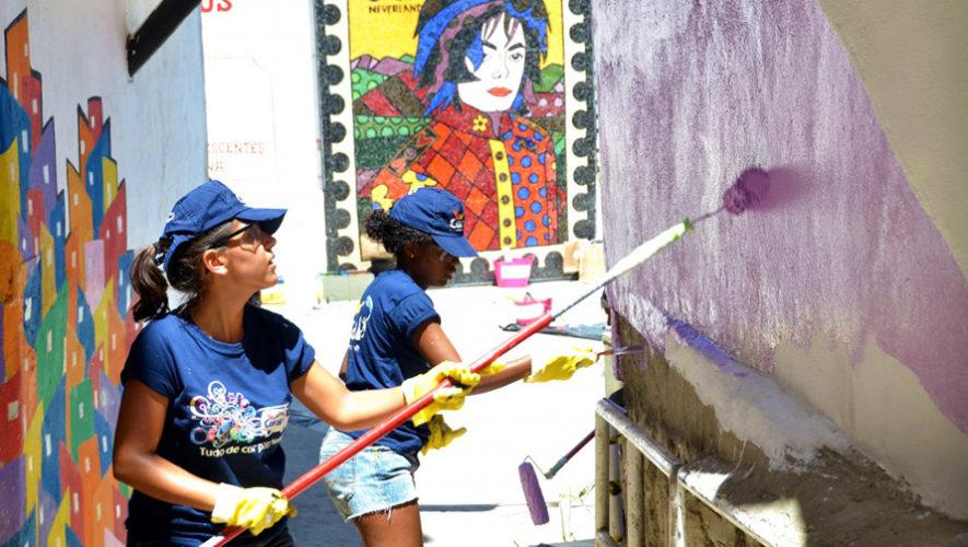 Buscan voluntarios para pintar las paredes de una avenida de la Ciudad de Guatemala