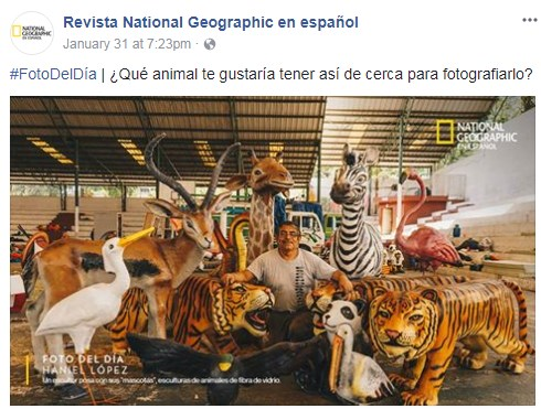 National Geographic destacó esculturas de animales guatemaltecas