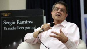 Sergio Ramírez, ganador del Premio Cervantes 2017, en Guatemala   Febrero 2018