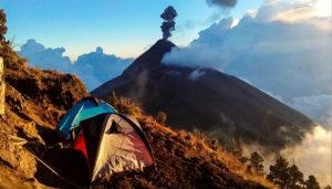 Ascenso y campamento en el volcán Acatenango   Marzo 2018
