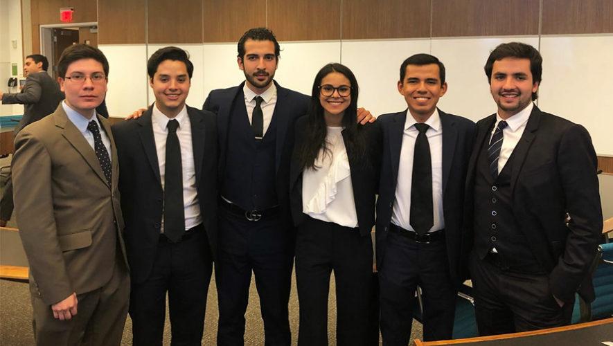 Guatemaltecos ganaron el primer lugar en una competencia internacional de Derecho en Washington