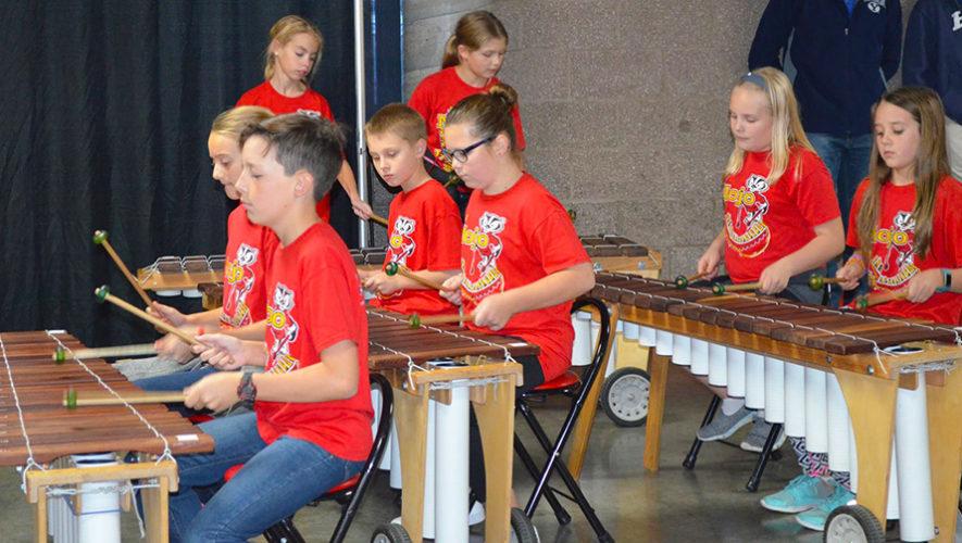 La melodía de marimba Mi Lupita fue interpretada por estudiantes de Estados Unidos