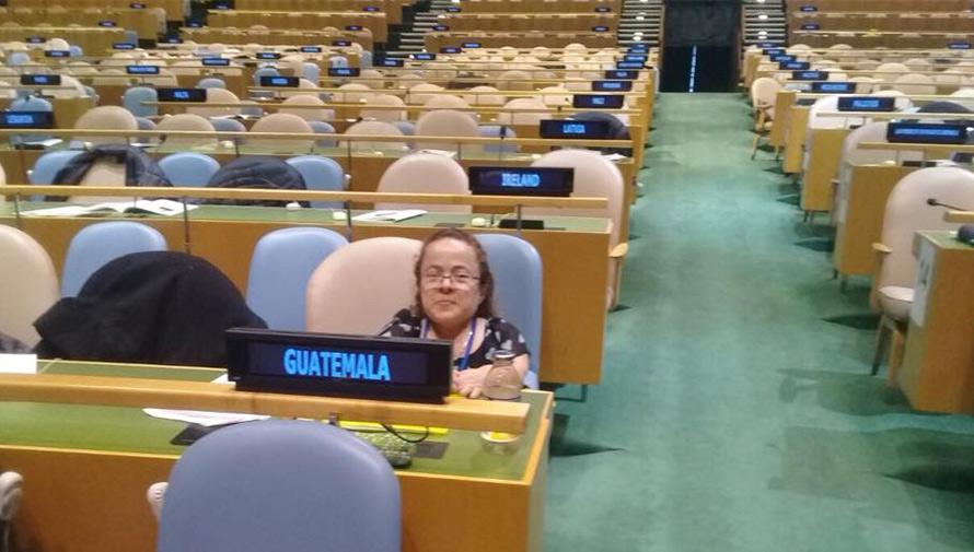 Rosa Idalia Aldana representó a Guatemala en la ONU