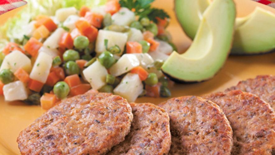 Tortitas de Carne Toledo guatemaltecas para los 3 tiempos de comida