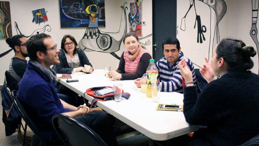 Charla entre jóvenes y escritores guatemaltecos   Abril 2018