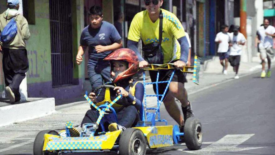 Carrera de carritos al empujón en Villa Nueva | Abril 2018