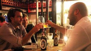 Jardín cervecero con Príncipe Gris en Saúl L'Osteria | Marzo 2018