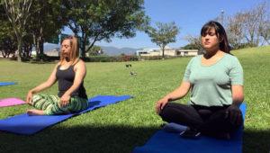 Clase de yoga al aire libre en Museo Miraflores | Mayo 2018