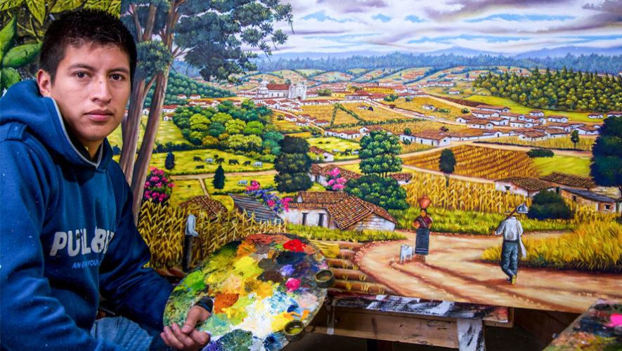 Alexander Ambrocio, el pintor que da a conocer Momostenango en sus obras de arte