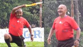 Árbitro en Escuintla se vuelve viral por su entusiasmo