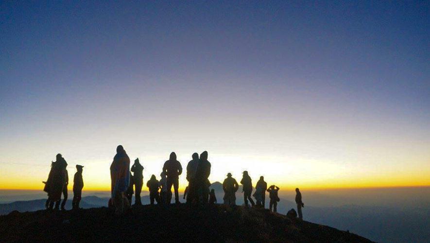 Ascenso nocturno al Volcán Atitlán   Abril 2018