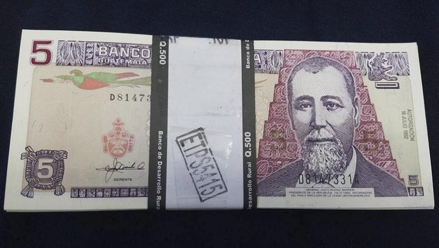 El billete de 5 quetzales de Guatemala volverá a ser de algodón