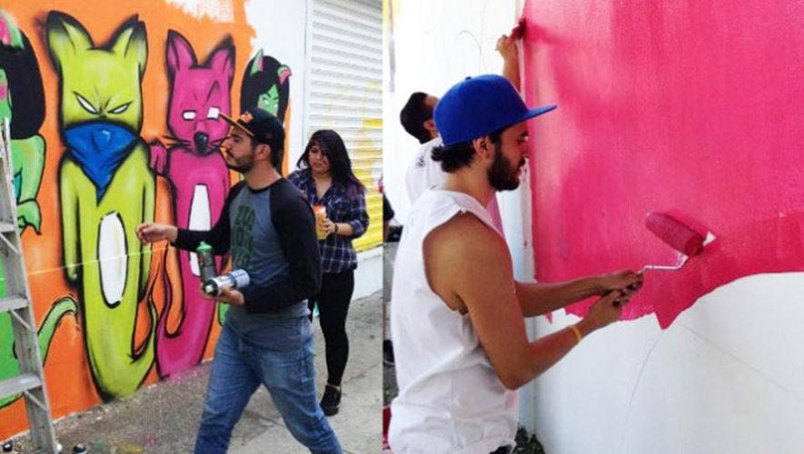 Participa en el Festival de Murales Bonito mi Barrio 2018, Ciudad de Guatemala