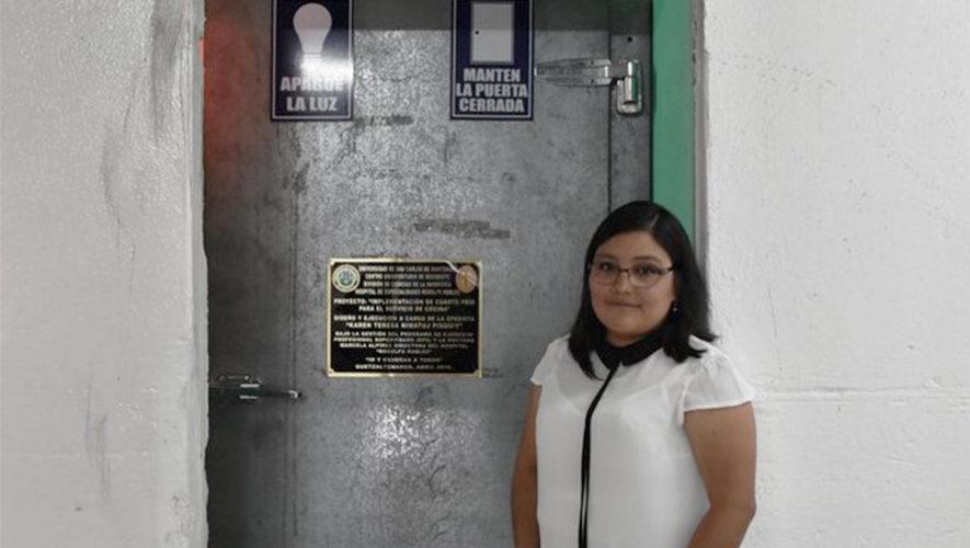 Universitaria guatemalteca diseñó cuarto frío para hospital