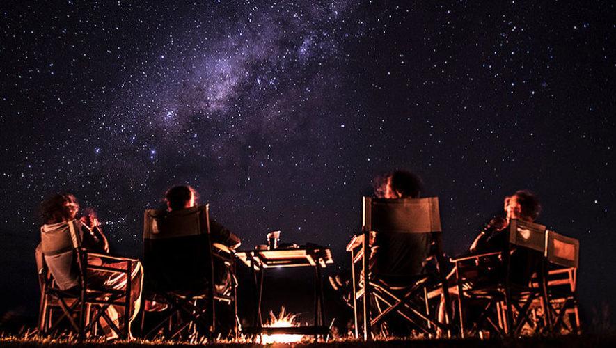 Noche de fogata para ver las estrellas   Abril 2018