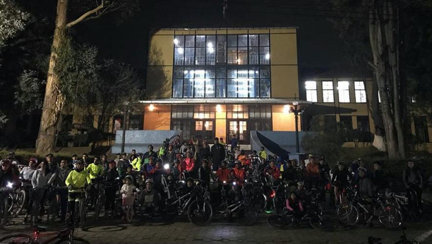 Bicitour nocturno en Quetzaltenango | Mayo 2018
