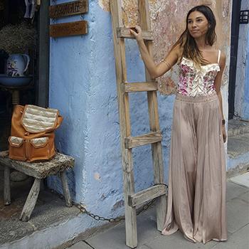 Andrea Insua, diseños guatemaltecos creados en Italia