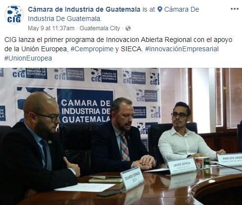Convocatoria para primer programa de Innovación Abierta Regional en Guatemala