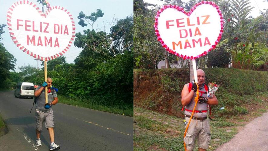 Don Tosho, el guatemalteco que recorre 16 kilómetros por el Día de la Madre