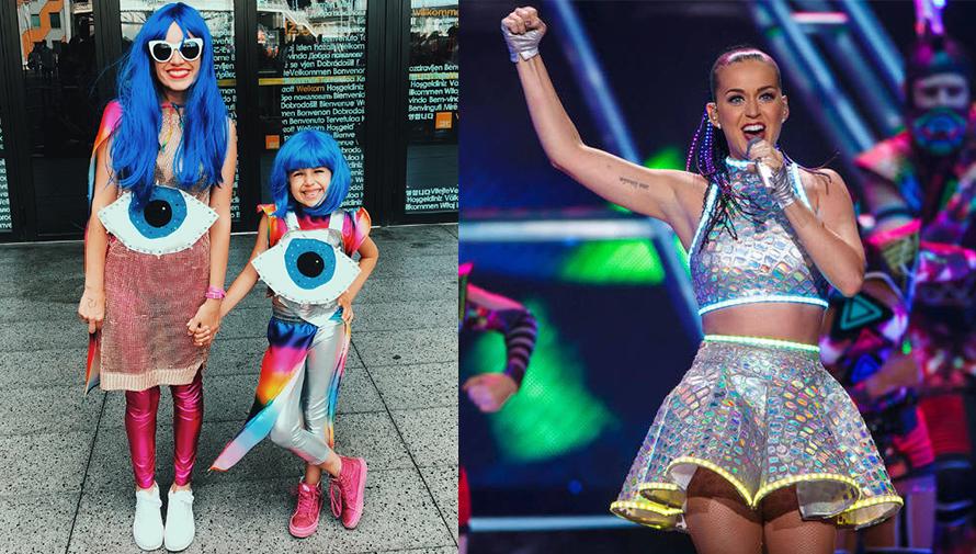 Katy Perry admiró a niña guatemalteca por su creativo vestuario