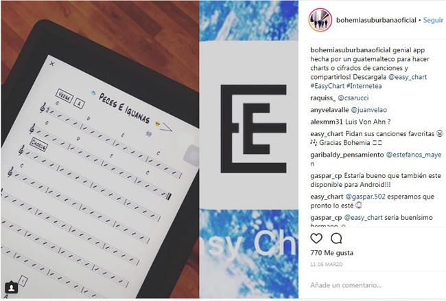 Easy Chart, aplicación guatemalteca para compartir partituras entre músicos